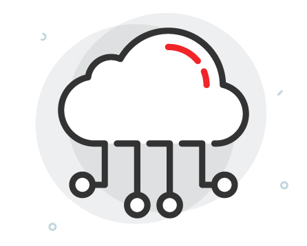 cloud hosting infrastructure icon