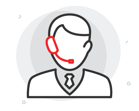 large customer care icon