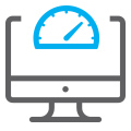 website speed meter icon