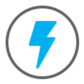 blue flash icon