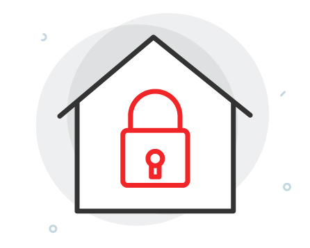 house with lock icon